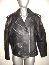 RAIDER LADY RAIDER HARLEY DAVIDSON MOTORCYCLES JACKET COAT size 10 BLACK LEATHER