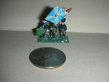"""Vintage Lead Miniature Field Soldiers with Flag/Drummer - 3/4"""" Tall - (#20)"""