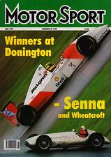 Motor Sport May 1993 - Brazilian Grand Prix Senna, European GP, Bonneville Speed