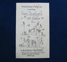 RARE SHEL SILVERSTEIN JEAN SHEPHERD PLAY ILLUS PROGRAM