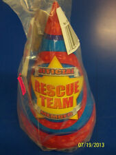 Rescue Team Police Fire EMT Vehicles Kids Birthday Party Favor Paper Cone Hats