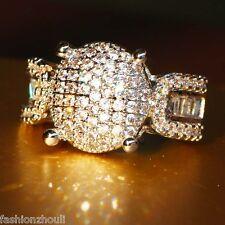 Hot 925 Silver Filled White Sapphire Gemstone Size 8 Birthstone Wedding Ring 543