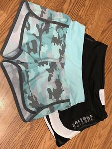 Nwt Justice Lot Of Two Running Shorts Girls 8