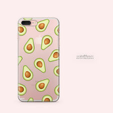 Clear TPU Plastic Case Cover for Apple iPhone Devices - AVOCADO