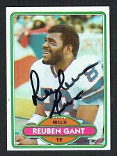 Reuben Gant #59 signed autograph auto 1980 Topps Football Trading Card