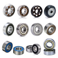 10Pcs Rubber Sealed Deep Groove Ball Roller Bearings Linear Bearings Bushing Kit