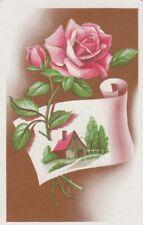 VINTAGE SWAP PLAYING CARD - 1 SINGLE - FLOWERS/ ROSES - #4