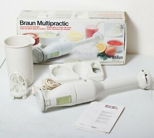 Braun Multipractic MR72 DeLuxe Hand Mixer Immersion Blender Variable Speed White