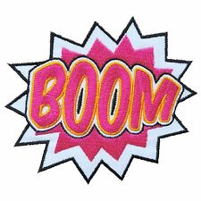BOOM Bomb Sound Action Super Hero Comic DC Battle Fighting Iron on Patches #1702