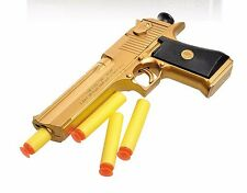 New Mini Nerf Guns Pneumatic Gun Desert Eagle Toy Gun Military Soft Bullet