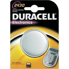 1 x Duracell CR2430 3V Lithium Coin Cell Battery DL2430 K2430L ECR2430