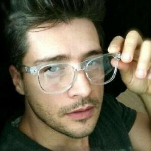 Retro Transparent Frame Classic Vintage Mens Horn Rimmed Clear Lens Eye Glasses