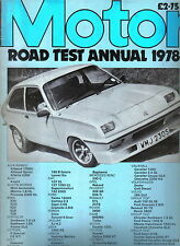 Motor Road Test Annual 1978 Alfa BMW Chrysler Datsun Fiat Ford Saab Vauxhall +