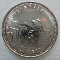 1992 CANADA 25¢ ALBERTA BRILLIANT UNCIRCULATED QUARTER COIN