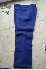 PANTALON DE TRAVAIL JARDIN BRICOLAGE MECANIQUE BLEU NEUF GRANDE TAILLE 58/60 3XL