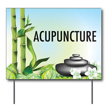 """Acupuncture Curbside Sign, 24""""w x 18""""h, Full Color Double Sided"""
