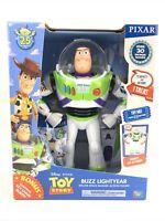 Toy Story Talking BUZZ LIGHTYEAR Deluxe Action Figure + Bonus Keychain Disney