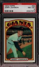 1972 TOPPS # 35 JERRY JOHNSON ☆RARE☆ SAN FRANCISCO S.F. SF GIANTS PSA 8 NM-MT