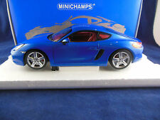 Scarse Minichamps 110 062221 2013 Porsche Cayman in blu metallico