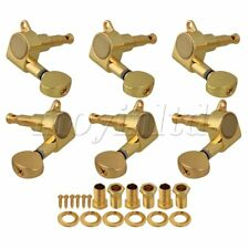 GOLD 3L/3R GUITAR MACHINE HEADS TUNING PEGS /SCOTIA BUTTON