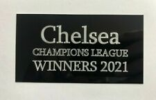Chelsea Champions League 2021 - 130x70mm Engraved Plaque for Signed Memorabilia