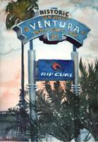 Rip Curl Ventura  : Signed LE Art Print : Sandra Watercolors™ California