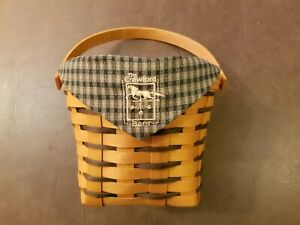 Longaberger 1998 Crawford Barn Raising Basket with Liner and Protector!