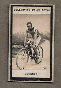 1900 JOHNSON CHAMPION USA CYCLIST TRADE CARD