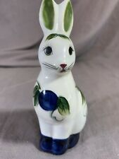 P Silkotch Bunny small figurine handpainted signed Pottery ceramic decoration