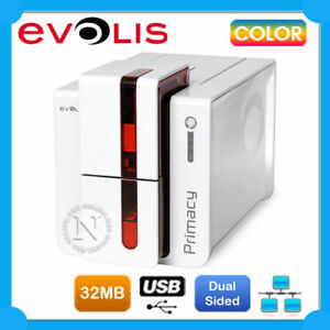 Evolis Primacy Dual Sided USB RED Ethernet Colour ID Card Printer P/N:E PR-D-FR