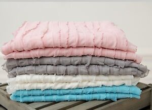 NEW Cascading Ruffle Fabric Baby Blanket Stuffer Wrap for Photography Photo Prop
