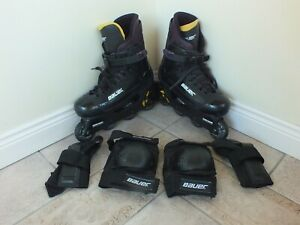 Bauer Fx 3 Inline Skates UK 9 Rollerblades & Bauer Knee pads and elbow pads