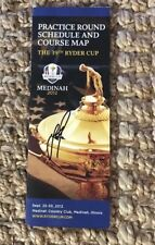 JUSTIN ROSE SIGNED COURSE MAP 2012 RYDER CUP MIRACLE AT MEDINAH AUTOGRAPH AUTO ⛳