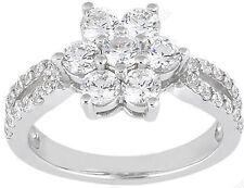 1.43 carat 7 Round Diamond Anniversary Wedding Ring Fancy Band 0.15 carat each