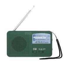 Mini Outdoor Emergency Radio Hand Crank Powered Solar Dynamo AM FM Weather W/LED
