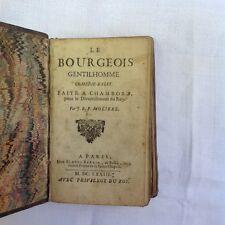 livre ancien (recueil rare voire unique!) de 1674, 3 pièces de Molière.