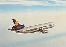 LUFTHANSA DC10 Airline Airplane Postcard