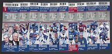 2016 NFL NEW YORK GIANTS FULL UNUSED FOOTBALL TICKETS - ENTIRE HOME SEASON -MINT