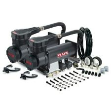 VIAIR 485C DUAL PACK STEALTH BLACK AIR RIDE BAG SUSPENSION COMPRESSOR PUMP TRAIN