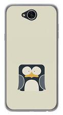 FUNDA de GEL TPU para LG X POWER 2 diseño PINGÜINO Dibujos