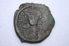 ANCIENT BYZANTINE TIBERIUS II CONSTANTINE BRONZE FOLLIS COIN 6th CENTURY AD
