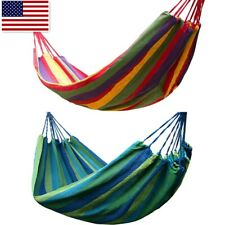 Deluxe Hammock Rope Chair Patio Porch Yard Tree Hanging Air Swing Outdoor New Us