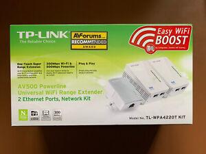 TP-Link TL-WPA4220T KIT AV500 Powerline Universal WiFi Range Extender