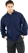Ininflammable Polo Manches Longues Bleu Marine taille 5XL