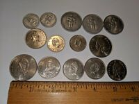 14 LOT NEW CALADONIA COINS