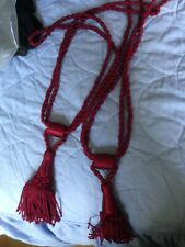 One pair of red rope tassel tie-backs - excellent condition!