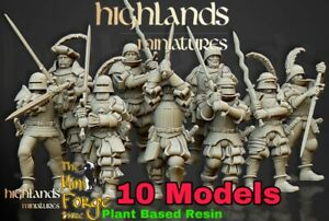 Empire Greatswords, Core, Oldhammer Fantasy Highlands Miniatures, Kings Of War