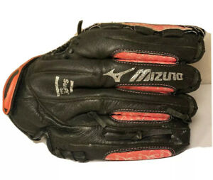 "Mizuno LHT Finch Girls Pink & Black Softball Youth Glove 11.5"" Inch Left Handed"