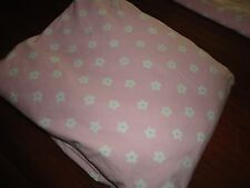 """POTTERY BAN KIDS FLORAL DOTS PINK GREEN FULL FITTED SHEET 100% COTTON GIRLS 15"""""""