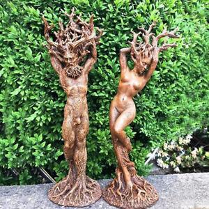 Harz Handwerk Baum Mann Statue Artwork Figur Skulptur für Home Decoration